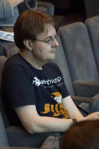 Andrew Fielding wearing BLC2013 tshirt